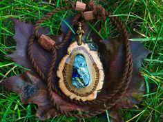 Wooden pendant/ wood jewelry/ handmade nature by OKAVARKpendants