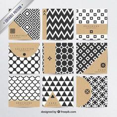 Geometric patterns in modern style Free Vector Geometric Patterns, Textures Patterns, Geometric Shapes, Print Patterns, Free Vector Patterns, Vector Free, Pattern Design, Print Design, Dm Poster