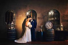 Flaxton Gardens Barrel Room Ceremony - wet weather option. {Photography by Bernadette Draffin}
