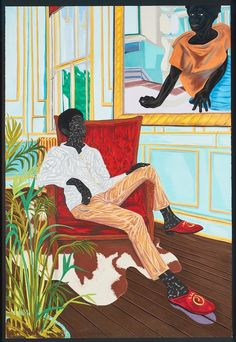 In A Matter of Fact at San Francisco's Museum of the African Diaspora, Toyin Ojih Odutola presents an elaborately conceived and completely imaginary history o Famous Black Artists, Black Female Artists, African American Artist, American Artists, African Art, Famous African American Paintings, Afro Art, Monochrom, Chalk Pastels