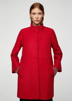 Straight-cut wool coat - Woman | MANGO Serbia