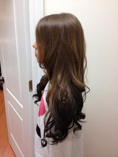 Another reverse ombre starting with my natural hair color. I wouldn't go this dark... probably stop at dark brown.