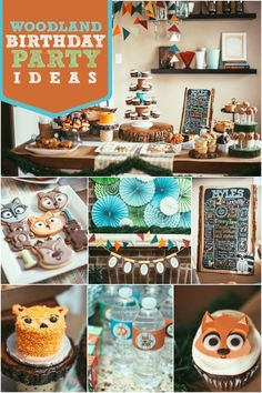 Woodland Themed Birthday Party Ideas