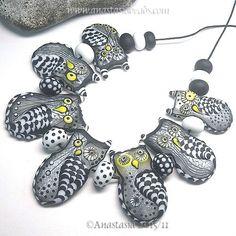 ANASTASIA-handmade-lampwork-beads-7-WINTER-OWLS-SRA http://www.ebay.com/itm/262144338337?ssPageName=STRK:MESELX:IT&_trksid=p3984.m1555.l2649