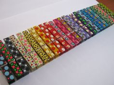 Painted wooden cloth pins
