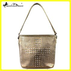 MW222-916 Montana West Bling Bling Collection handbag-Bronze