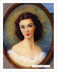 A Portrait of Vivien Leigh that Lawrence Olivier kept with him for his whole life, even after they divorced and she died.