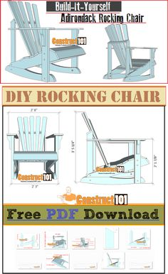 Woodworking Diy Plans Adirondack Chairs 61 Ideas For 2019 Adirondack Rocking Chair, Rocking Chair Plans, Adirondack Chairs, Adirondack Chair Plans Free, The Plan, How To Plan, Woodworking Jig Plans, Woodworking Projects Diy, Diy Projects