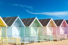 Rent a beach hut. Loving the pastel colours. #beach #seaside #beachhut