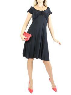 ROBERTO CAVALLI Black Ruffle Cocktail Dress. EU 42/US 6 $350 http://www.boutiqueon57.com/products/just-cavalli-black-ruffle-cocktail-dress-eu-42-us-6
