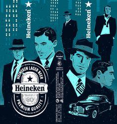 Heineken Bottle. Packaging. by Peter Donnelly, via Behance
