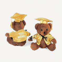 Personalized Plush Graduation Bear - Yellow - OrientalTrading.com