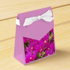 Pink Delosperma Party Favor Boxes #flowers #partyideas #showerideas