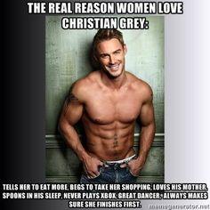 the real reason women love Christian Grey hahaha