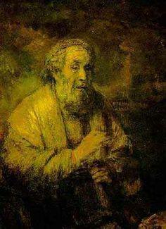 호메로스, 렘브란트,(1606-1669)   캔버스에 유채, 108 x 42 cm, 1663,  덴 하그 마우리츠하이즈 미술관 미술관     호메로스는 장님으로 고대 석학중 한명이다.  노년기로 접어들면서 약해지는 자신의 모습을 호메로스로 투영하였다는 사실을 알 수 있다.  깊은 정신세계를 동경하였고 자신의 모든 회화적 기법을 동원하여 마지막까지 작품활동을 하였다.