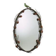 Bird Mirror in Muted Rust