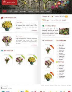 Florist CSS Web templates download design