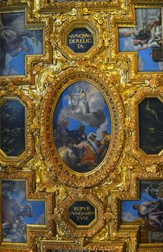 Venetian religious art of the Doge's Palace in St. Mark's Square in Venice, Italy. They sure take their ceilings seriously. Photo credit: Stephen Thorburn - Google+