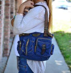 Vintage Military Style Shoulder Bag - 3 Colors!   Jane