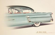 Packard Clipper proposal by Bill Brownlie for Briggs Design Ca. 1952/53