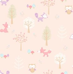 Forest Friends Pink Animal Wallpaper Brewster Wallcoverings Pastels Pinks Animals Wallpaper Girls Wallpaper Kids Wallpaper Lodge Look Wallpaper, Easy to clean , Easy to wash, Easy to strip Look Wallpaper, Wallpaper Stores, Kids Wallpaper, Wallpaper Samples, Print Wallpaper, Animal Wallpaper, Wallpaper Iphone Cute, Pattern Wallpaper, Forest Creatures