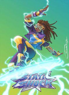 "[SWAPTOBER] | ""Static Shock"", illustrated by Omaka Schultz"