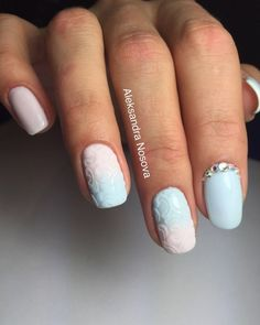 Air nails, Beautiful delicate nails, Delicate nails, Embossed nails, Exquisite nails, Feminine nails, Nails with rhinestones, Nails with stones