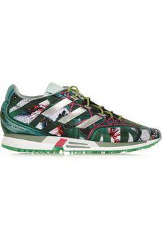 Adidas Originals + Mary Katrantzou Bomfared Equipment Racer scuba-jersey sneakers