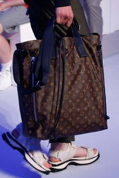 Louis Vuitton Spring 2016 Menswear - Collection - Gallery - Style.com - handbag, brown, summer, red, brown, homemade purse *ad