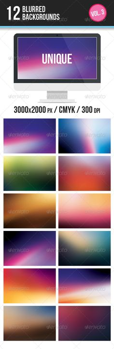 12 Blurred Backgrounds  #GraphicRiver