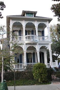 Garden District of New Orleans---I use to take walks here in the garden district --some very, very lovely homes.  (I had the time to do so on my layovers)