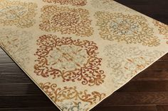 Arabesque Area Rug | Green Medallion and Damasks Rugs Machine Made | Style ABS3018-- jackandjillboutique.com-Free Shipping $90 and above - 1