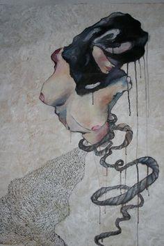 "Saatchi Online Artist Bahar Shahriari; Painting, ""The shadow of the desert"" #art"
