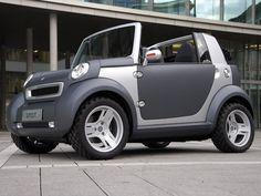 Cool Smart Mini Car Design and Models Luxury Sports Cars, Cool Sports Cars, Sport Cars, Microcar, Smart Car Body Kits, Porsche, Smart Fortwo, Gm Car, Weird Cars