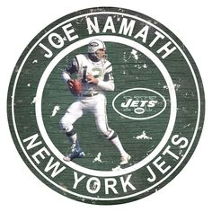 New York Jets Joe Namath Wall Decor, Multicolor