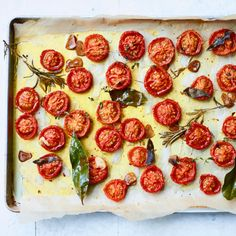 Confit tomatoes with herbs