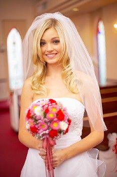 wedding hair... down with veil