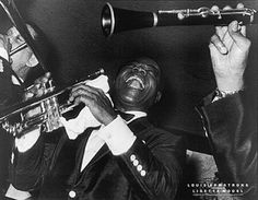 Louis Armstrong JOY (1955) Classic Jazz Poster Print - photographer Lisette Model -Available at www.sportsposterwarehouse.com
