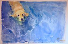 swimming dog 3 / Saye Amebane