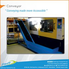 Swift Auxi Technik also provides certain accessories like Conveyors which are useful in transmitting various products with an easy reach. #Conveyor #ConveyorManufacturers #ConveyorSuppliers #ConveyorExporters