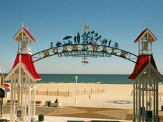 Visitors looking for lively nightlife can head to the beaches and boardwalk of Ocean City, Maryland.