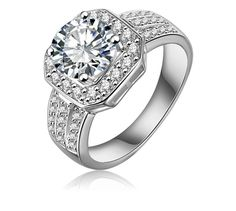 White GP Engagement Ring
