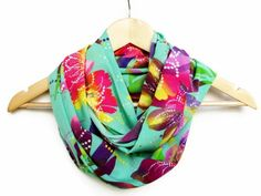 Thin Lightweight Mint Colorful infinity Scarf with by HeraScarf, $9.90