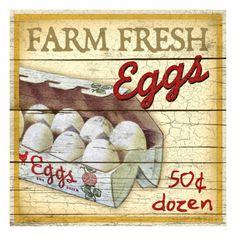 Farm Fresh Eggs Giclee Print by Kate Ward Thacker at AllPosters.com