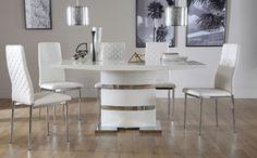 Komoro White High Gloss Dining Table