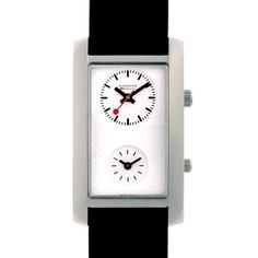 Mondaine Mens White Dial Leather Strap Rectangular Line Extension Watch Line Extension, Discount Designer, Arcade, Diamond Engagement Rings, Branding Design, Wedding Rings, Jewels, Watches, Leather