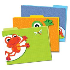 Make organizing your classroom fun with these light-hearted, yet -multi functional folders in the adorable FUNky Frogs design! These new folders offer a creative solution for organizing the classroom