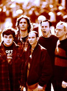 "Bad Religion - check out ""Infected"" - I think the guy in the middle is rich from starting his own label which put out The Offspring and Greg Gaffin, second from the right, has a PhD in something like paleontology and he is also a college professor on the side"