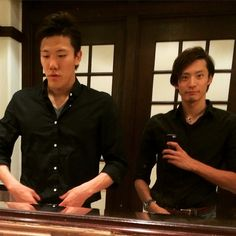 ドレスコードがあったので黒シャツで決める。  #昨日購入 #Dresscode #Rafflessingapore