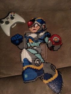 Megaman X Perler by ~Michahay on deviantART
